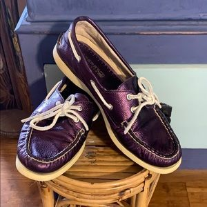 Sperry Top Sider Shiny Purple Leather